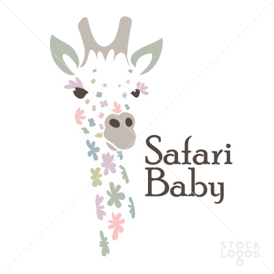 Baby Safari Flower Giraffe | StockLogos.com