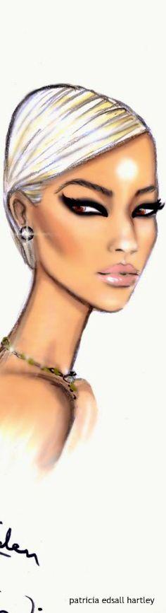 LFW Beauty Illustrations for Rimmel London by Hayden Williams