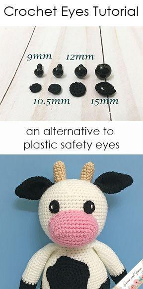 Crochet Eyes Tutorial - An Alternative To Plastic Safety Eyes ...