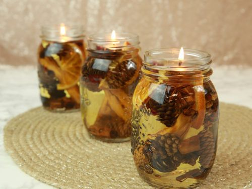 """These DIY fall-scented oil lamps will """"leaf"""" you totally ready for autumn"""
