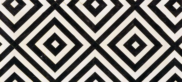 Любовь Попова. Рисунок для ткани. 1923–1924. Бумага, тушь. 32×14 см. ГМЗ «Царицыно»