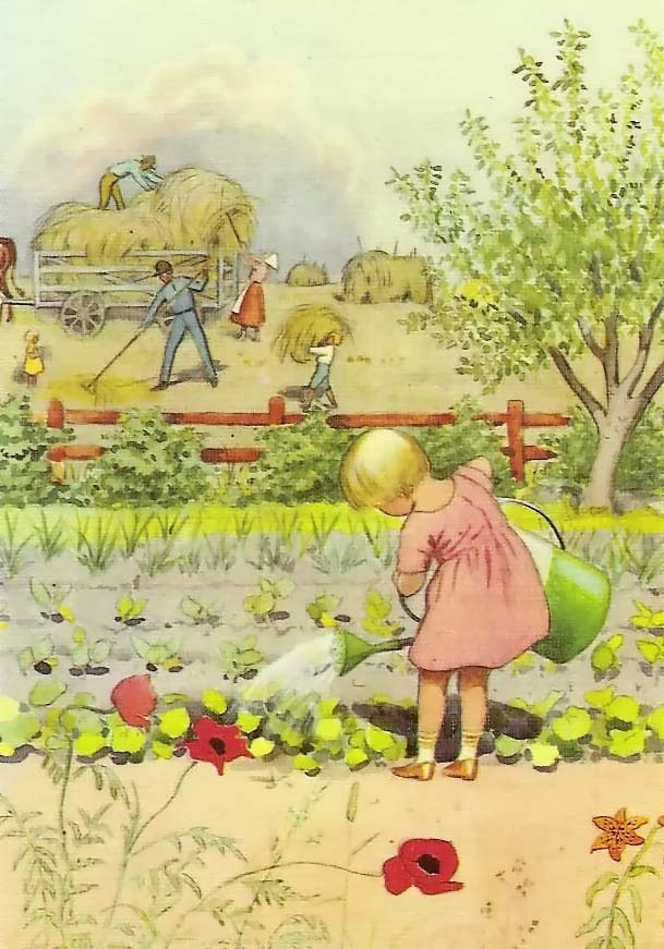 Elsa Beskow - Google Search: Charms Illustrations, Vintage Illustrations, Vintage Children, Farms, Children Illustrations, Gardens, Elsa Beskow, Artworks Illustrations, Children Books