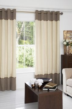 banded curtain