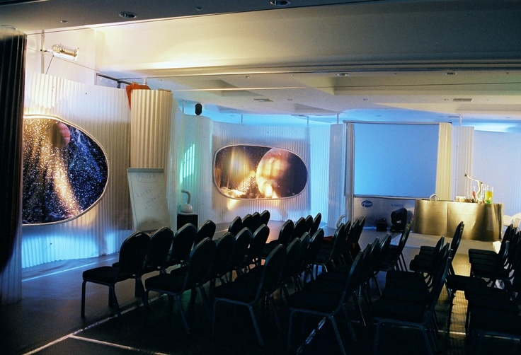 "A meeting room decorated in a ""Space"" theme - Mykonos Grand Hotel & Resort"