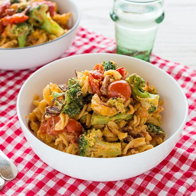 BACON AND ROASTED BUTTERNUT PASTA