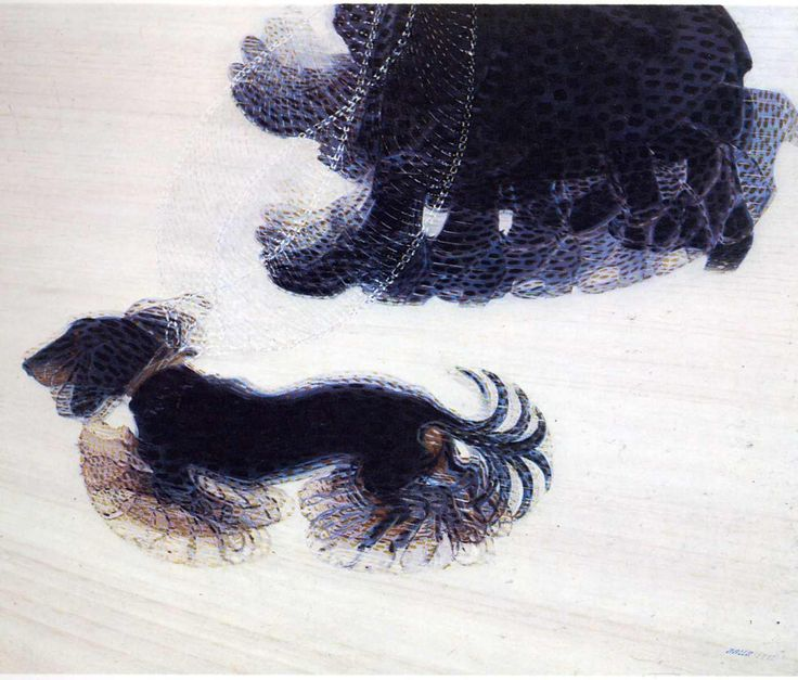 Giacomo Balla, Dynamism of a Dog on a Leash, 1912, oil on canvas, Buffalo Fine Arts Academy, New York