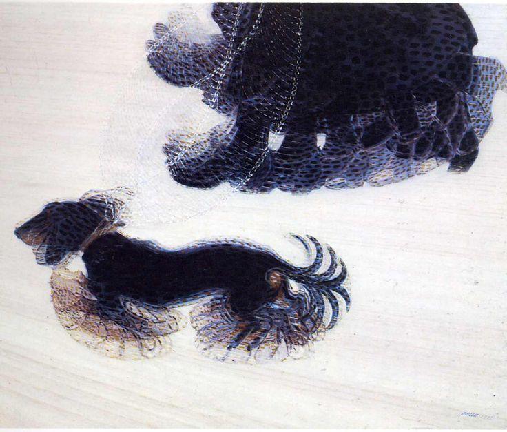 Giacomo Balla, Dynamism of a Dog on a Leash, 1912, oil on canvas, Buffalo Fine Arts Academy, New York