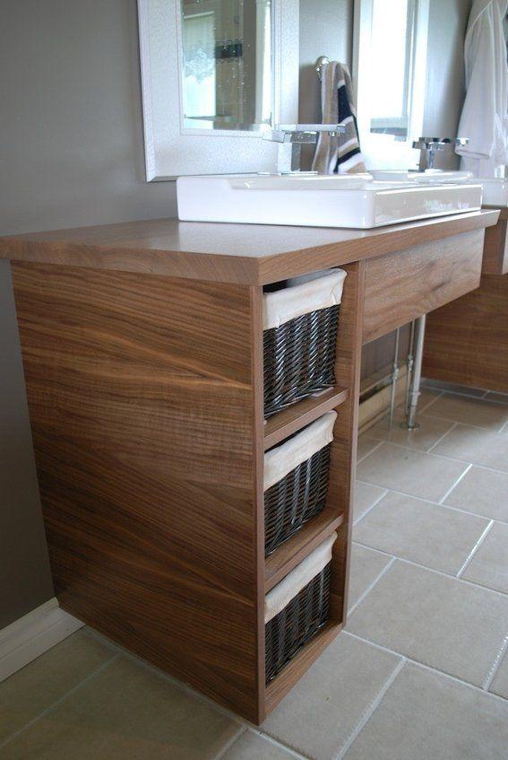 floating bathroom | Handmade Custom Floating Bathroom Vanities by Clark Wood Creations ...