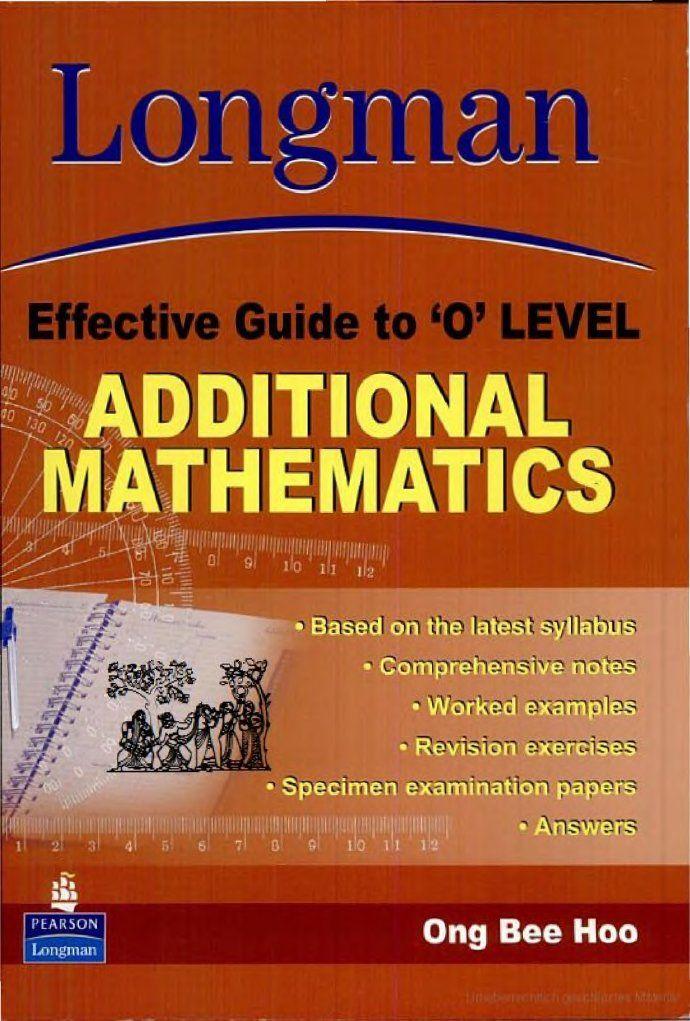 9812357955 Leg O Level Additional Maths O Levels Math Free Math