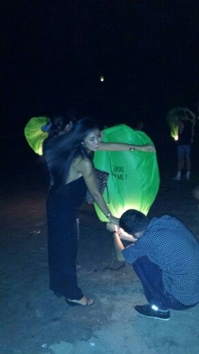 Helped with this couples proposal tonight on the beach, Seminyak, Bali