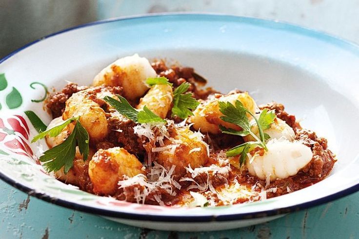 These delicate dumplings marry well with rich bolognese and parmesan.