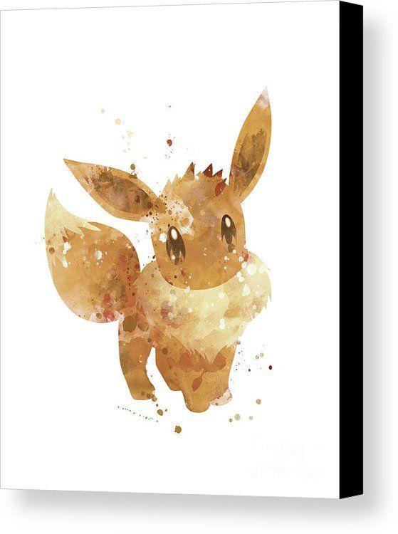Pokemon Eevee Canvas Print / Canvas Art by Monn Print