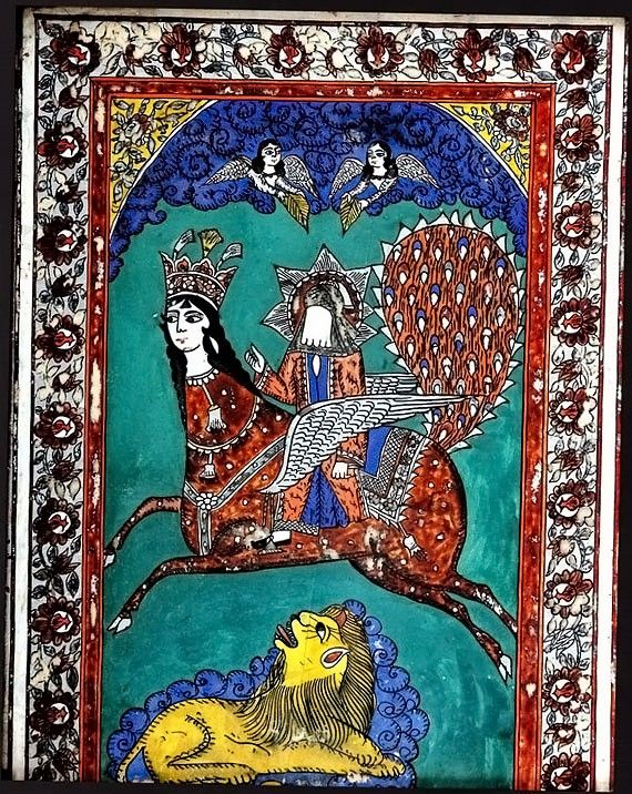 Buraq--Prophet Muhammad's magical horse who carried him in his ascension to heaven.  Islamic tradition calls it Muhammad's Night Journey (from Mecca to Jerusalem's Dome of the Rock up to heaven and back home to Mecca all in one night).