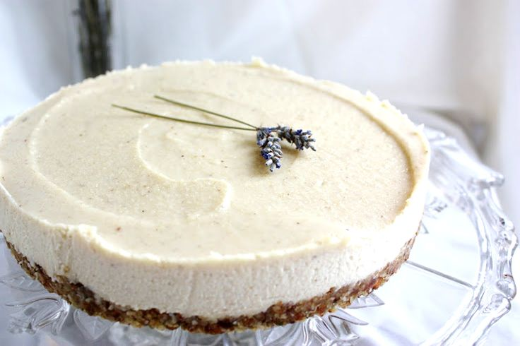 Lavender and Lemon Vegan Cheesecake (don't let the vegan part scare you...that's why it's low carb (the only carbs are the healthful nuts), and it's delish!
