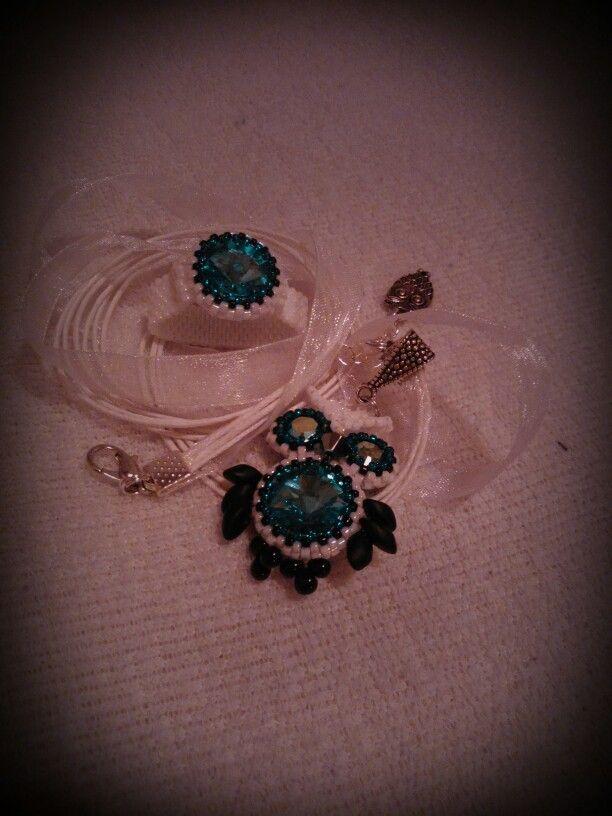 Kék bagoly medál és swaris gyűrű