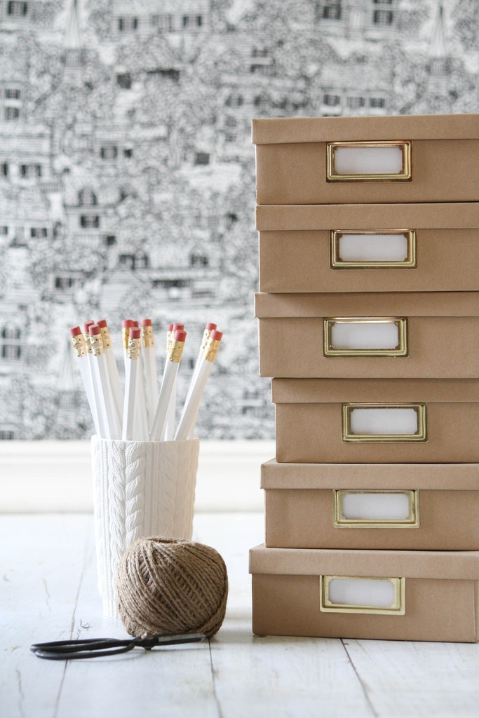 Kraft Paper Boxes; great for pictures by year or tax receipts or bills by month, etc.