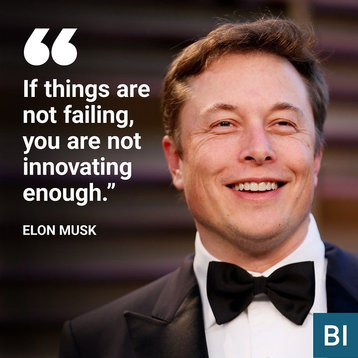 "8,725 Likes, 58 Comments - Business Insider (@businessinsider) on Instagram: ""Elon Musk knows a thing or two about failing. The businessman and innovator has had several failed…"""