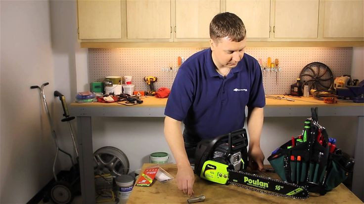 How to Install a Chain on a Poulan Chainsaw : Lawn Care & Power Tools