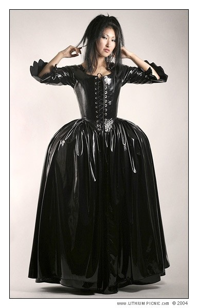 The Fetish Countess 18th Century Pvc Corset Gown Love The