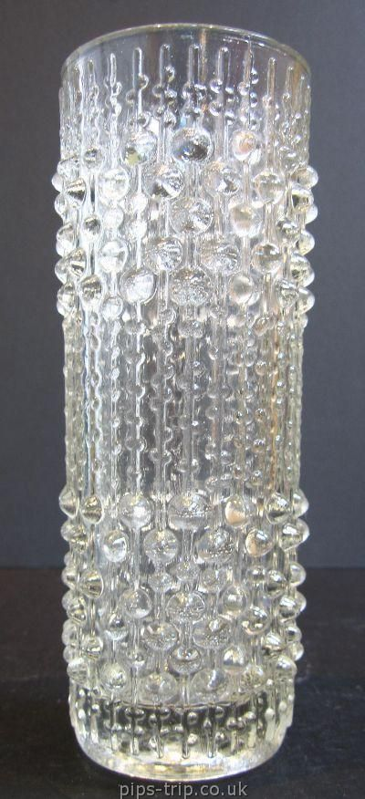 SOLD GLASS ARCHIVES : Sklo Union Glass 1 : 1960s Sklo Union Glass (Czech) 'Candlewax' Vase by Frantisek Peceny