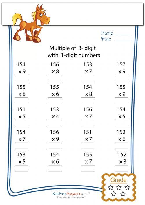 Multiplication Worksheets multiplication worksheets algorithms – Expanded Algorithm Multiplication Worksheets