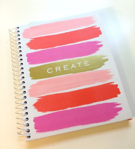 This inspiring spiral notebook encourages you to write down your creative ideas and or to use it as a bullet journal. Three different pink sections divide the notebook.#diary #bulletjournal #notebook