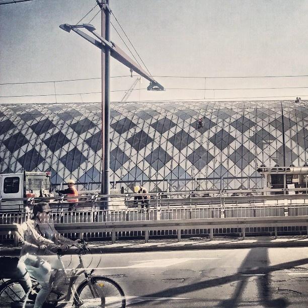 Found on Starpin. #ghost #bicycle #pozan #railwaystation