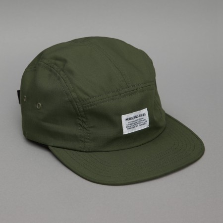 £40 - Norse Projects - Saxpop Solid 5 Panel Cap in Olive
