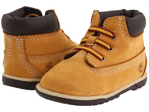 "Timberland Kids 6"" Crib Bootie (Infant) Wheat Nubuck - Zappos.com Free Shipping BOTH Ways"