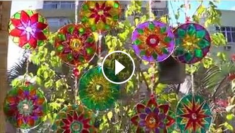 CD Sun-catchers. These are great and easy!