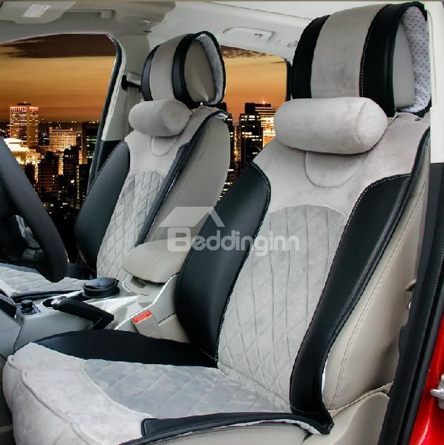 New Arrival Deluxe High Quality Silver and Black Color Fashion Seat Covers