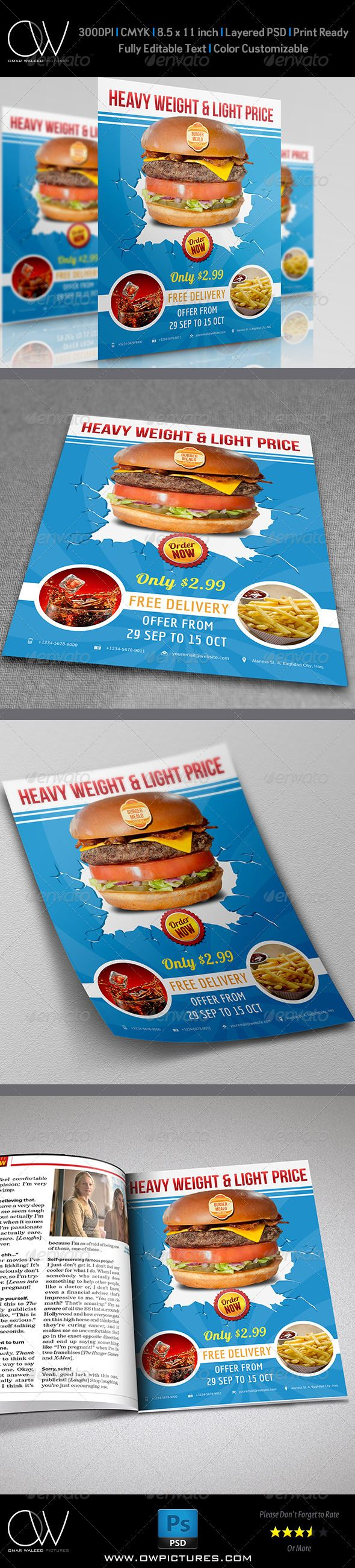 Burger Restaurant Flyer Vol.3