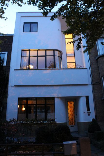 Modernist town house, 1937 by Victor Duyckers by gopat1, via Flickr