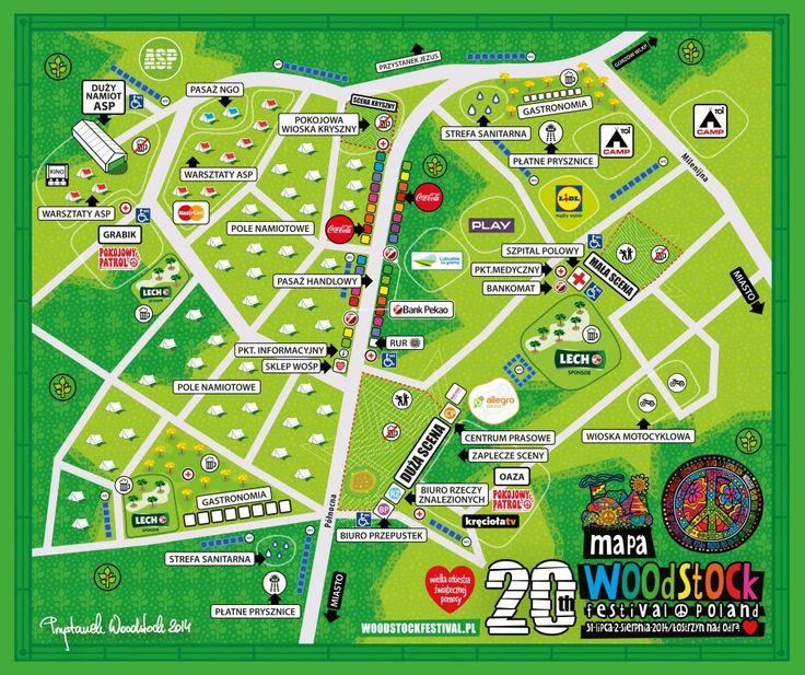 Mapa tegorocznego Przystanku Woodstock