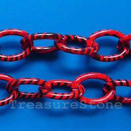 Chain, aluminum, pattern3, 12x17mm curb