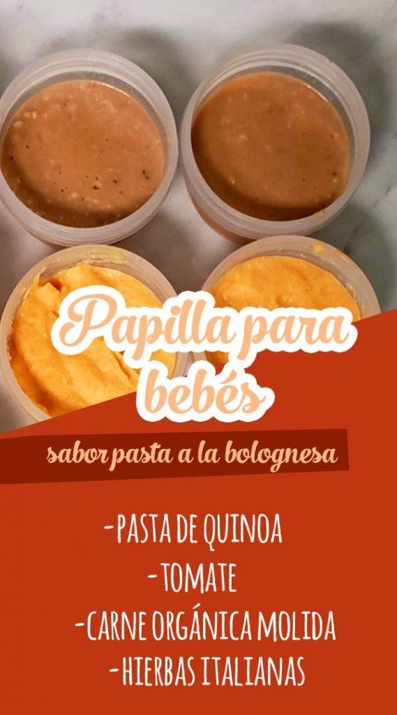 PAPILLA PARA BEBÉ ¡SABOR PASTA A LA BOLOGNESA! - Las Recetas de Laura Quinoa, Pasta Integral, Ariel, Kids, Baby, Tomato Paste, Ground Meat, Baby Foods