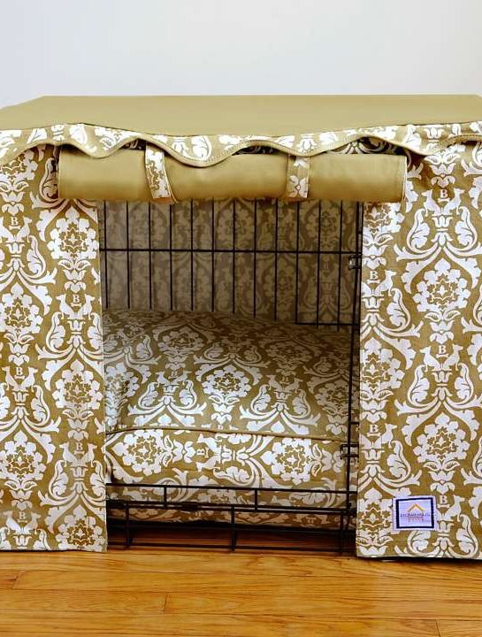 Upgrade an ordinary metal pet crate into a stylish haven for your pet with the Damask Pet Crate CoverPets Beds, Damasks Pets, Pets Crates, Pets Accessories, Breeds Pets, Metals Pets, Pets Health, Pets House, Pets Paraphernalia