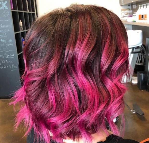 درجات الوان صبغة اومبري للشعر القصير Ombre Short Hair Dye Haircolors Hairstyles Shorthairstyles Hairc Short Hair Styles Short Ombre Hair Long Hair Styles
