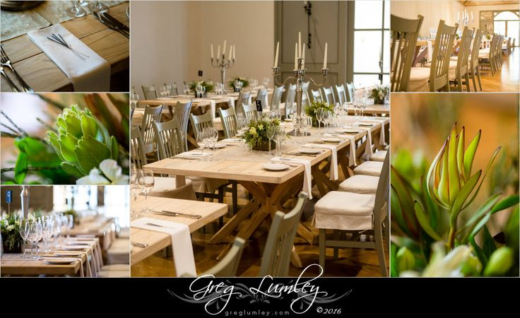 Natural wood wedding decor.  By wedding photographer Greg Lumley