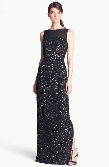 St. John Collection Hand Beaded Gown- Very Downton Abbey with a price tag to match $1,995.00 !  #DowntonAbbey http://www.vintagedancer.com/1920s/1920-downton-abbey-inspired-clothing/