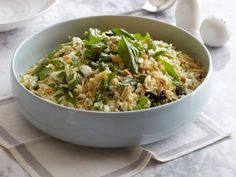 Turn a typical summer BBQ into a fancier affair with Giada's Tri-Colore Orzo salad.