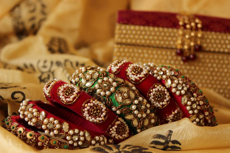 Bangles are of great value in Hindu tradition and also makes bride more beautiful.
