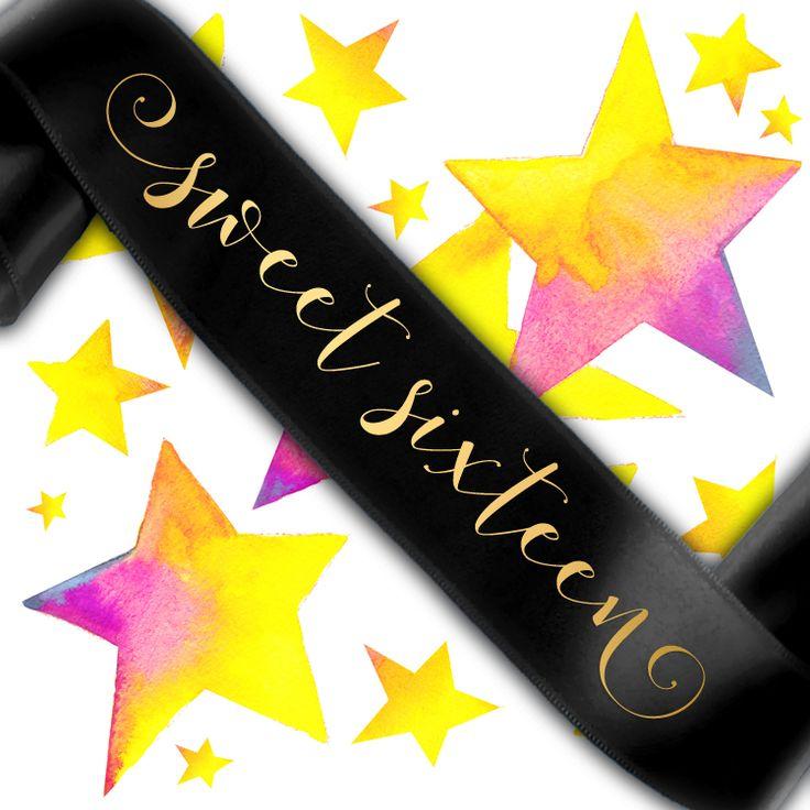 Sweet Sixteen Birthday Sash - Groovi