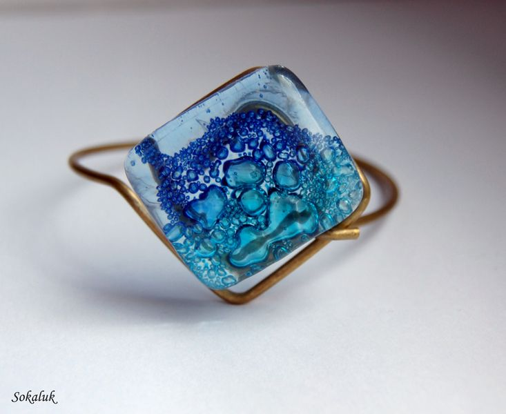 "Bransoletka ""Bąble  w Sokaluk Glass na DaWanda.com"