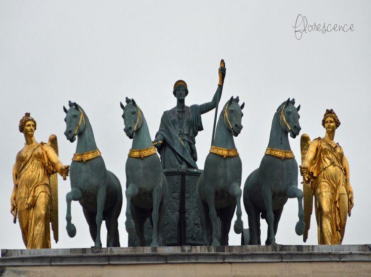Quadriga on the Arc de Triomphe du Carrousel, Paris: Peace riding in a triumphal chariot, by François-Joseph Bosio, Paris, France (c) Floresence