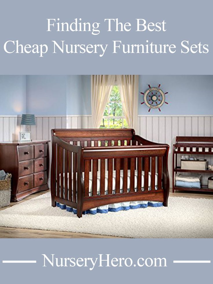 Take a look at the best cheap nursery furniture sets to maximize your baby nursery budget.