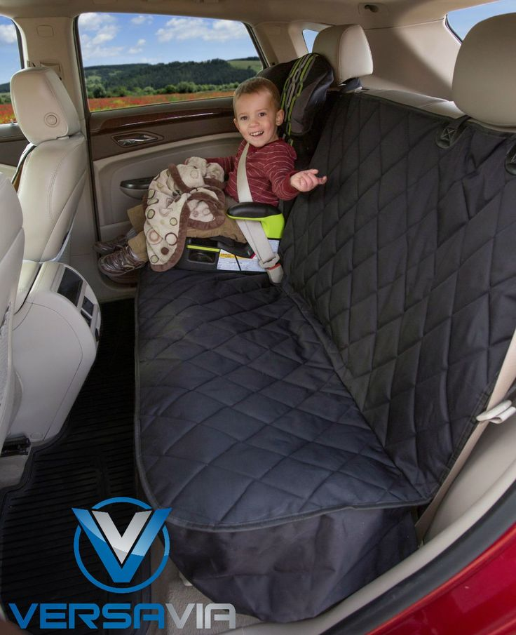 Save your back seat from spilled crackers, goldfish and sippy cups with a VersaVia Seat Cover.  http://www.amazon.com/Car-Seat-Protector-Mat-Covers/dp/B00QMW9SIK