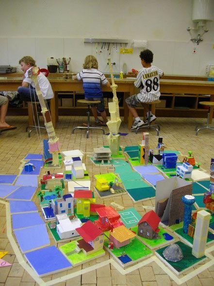 Little City - Ideen Kunstunterricht Zeichnen Schule