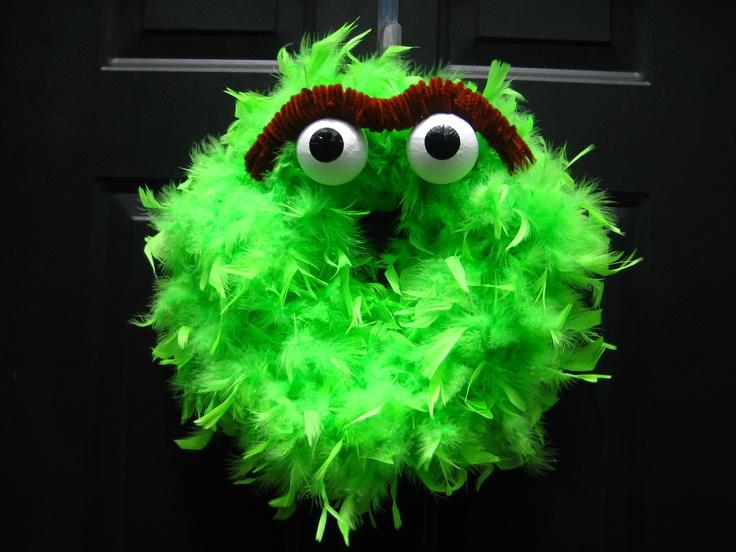 Oscar the Grouch Wreath