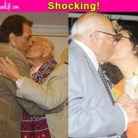 Ram Jethmalani kisses Leena Chandavarkar ( Kishore Kumar's wife) recently. Why this senior lawyer tries to stay in news with one kind of cotrraversy or the other. Previously he kissed Dharmendra also  itimes.com
